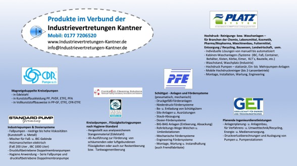 CDR Pompe, CDR Pumpen, MDM Pumps, ContratEch Cleaning Solutions, PFE, Platz SYstem, GET mbH
